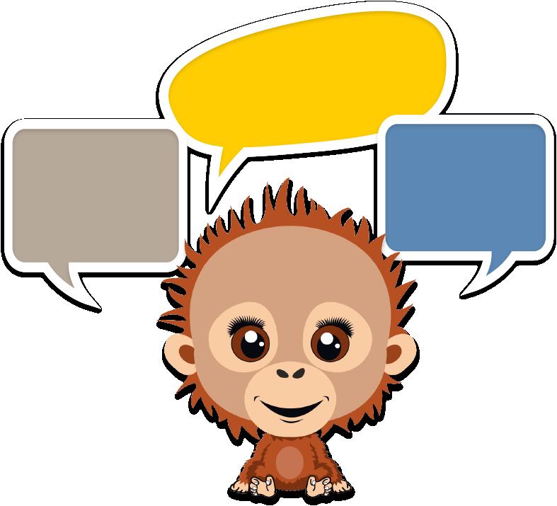 Orangutan Speaking Image