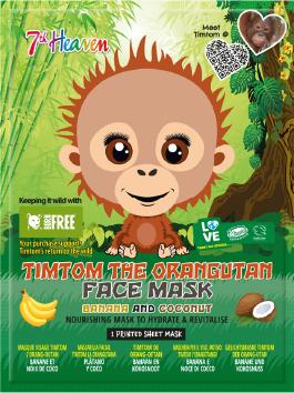 Image of TimTom the orangutan Face Mask